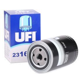UFI  23.164.00 Φίλτρο λαδιού Ø: 91,0mm, Εξωτερική διάμετρος 2: 72,0mm, Εσωτερική διάμετρος 2: 62,0mm, Ύψος: 142,0mm