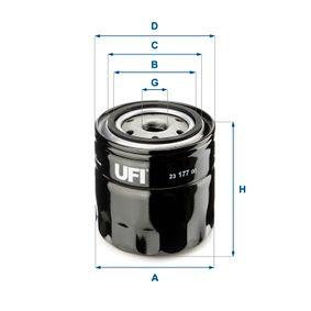 Ölfilter Ø: 96,0mm, Außendurchmesser 2: 72,0mm, Innendurchmesser 2: 62,0mm, Höhe: 96,5mm mit OEM-Nummer 7 700 695 804
