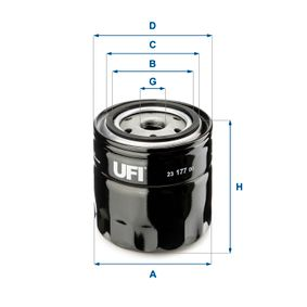 Ölfilter Ø: 96,0mm, Außendurchmesser 2: 72,0mm, Innendurchmesser 2: 62,0mm, Höhe: 96,5mm mit OEM-Nummer 7 700 734 825
