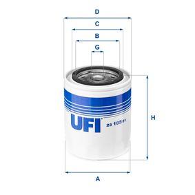 Ölfilter Ø: 96mm, Außendurchmesser 2: 72mm, Innendurchmesser 2: 62mm, Höhe: 116mm mit OEM-Nummer 15402-32090