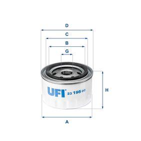 Ölfilter Ø: 86,0mm, Außendurchmesser 2: 72,0mm, Innendurchmesser 2: 62,0mm, Höhe: 60,0mm mit OEM-Nummer 7700 734 945
