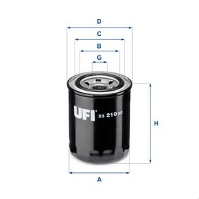 Ölfilter Ø: 80,0mm, Außendurchmesser 2: 62,0mm, Innendurchmesser 2: 56,0mm, Höhe: 102,0mm mit OEM-Nummer 1651083001