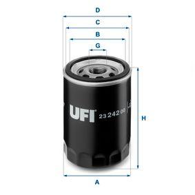 Ölfilter Ø: 76mm, Außendurchmesser 2: 71mm, Innendurchmesser 2: 61mm, Höhe: 96,5mm mit OEM-Nummer 1220880