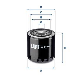 Ölfilter Ø: 93mm, Außendurchmesser 2: 71mm, Innendurchmesser 2: 63mm, Höhe: 98mm mit OEM-Nummer 861476-0