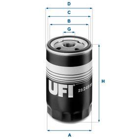 Ölfilter Ø: 76mm, Außendurchmesser 2: 71mm, Innendurchmesser 2: 61mm, Höhe: 123mm mit OEM-Nummer 0060553431