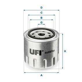 Filtre à huile Ø: 91,0mm, Diamètre extérieur 2: 72,0mm, Diamètre intérieur 2: 62,0mm, Hauteur: 80,0mm avec OEM numéro 21051012005