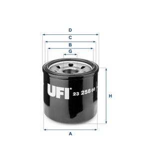 Ölfilter Ø: 68mm, Außendurchmesser 2: 64mm, Innendurchmesser 2: 56mm, Höhe: 66mm mit OEM-Nummer B6Y1 14302A