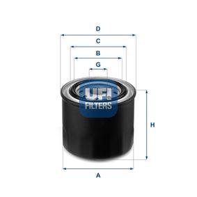 Ölfilter Ø: 80mm, Außendurchmesser 2: 62mm, Innendurchmesser 2: 54mm, Höhe: 71mm mit OEM-Nummer 15208AA024