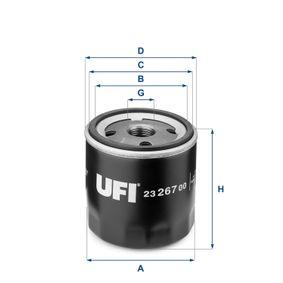 Oil Filter Ø: 76,0mm, Outer diameter 2: 72,0mm, Inner Diameter 2: 62,5mm, Height: 73,5mm with OEM Number 71736169