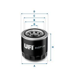 Ölfilter Ø: 80mm, Außendurchmesser 2: 64mm, Innendurchmesser 2: 57mm, Höhe: 76,5mm mit OEM-Nummer 650393