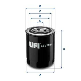 UFI  23.272.00 Ölfilter Ø: 80,0mm, Außendurchmesser 2: 61,5mm, Innendurchmesser 2: 53,5mm, Höhe: 121,5mm