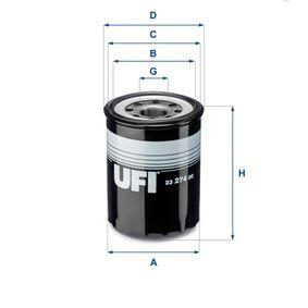 Ölfilter Ø: 89,0mm, Außendurchmesser 2: 87,0mm, Innendurchmesser 2: 76,0mm, Höhe: 127,0mm mit OEM-Nummer 65 03 91