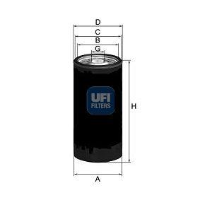 UFI  23.276.00 Ölfilter Ø: 108,0mm, Außendurchmesser 2: 102,5mm, Innendurchmesser 2: 92,0mm, Höhe: 178,5mm