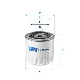 Ölfilter Ø: 96mm, Außendurchmesser 2: 72mm, Innendurchmesser 2: 62mm, Höhe: 96,5mm mit OEM-Nummer 173171