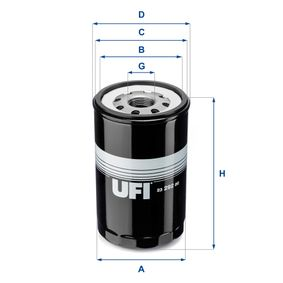 UFI  23.292.00 Ölfilter Ø: 108,0mm, Außendurchmesser 2: 102,5mm, Innendurchmesser 2: 92,0mm, Höhe: 180,0mm