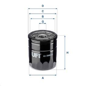 Ölfilter Ø: 76mm, Außendurchmesser 2: 71mm, Innendurchmesser 2: 61mm, Höhe: 80,5mm mit OEM-Nummer 93186554