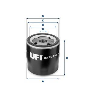 Ölfilter Ø: 76,0mm, Außendurchmesser 2: 71,0mm, Innendurchmesser 2: 61,0mm, Höhe: 75,0mm mit OEM-Nummer 93178952