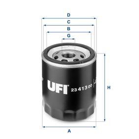 Ölfilter Ø: 76mm, Außendurchmesser 2: 71mm, Innendurchmesser 2: 61mm, Höhe: 92mm mit OEM-Nummer 1S7G6714-DA