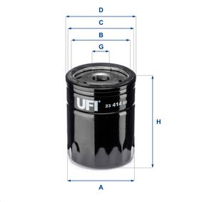 Oil Filter Ø: 76,0mm, Outer diameter 2: 71,0mm, Inner Diameter 2: 61,0mm, Height: 102,5mm with OEM Number 46 468 378