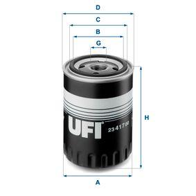 T4 Transporter 1.9TD Ölfilter UFI 23.417.00 (1.9TD Diesel 2003 ABL)