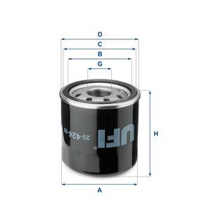 Ölfilter Ø: 65mm, Außendurchmesser 2: 62mm, Innendurchmesser 2: 52mm, Höhe: 72mm mit OEM-Nummer 15853 9917 0