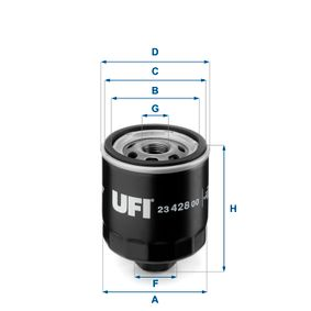 Ölfilter Ø: 75mm, Außendurchmesser 2: 72mm, Innendurchmesser 2: 62mm, Höhe: 95mm mit OEM-Nummer 030-115-561P
