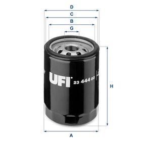 UFI  23.444.00 Ölfilter Ø: 76,0mm, Außendurchmesser 2: 71,0mm, Innendurchmesser 2: 61,0mm, Höhe: 102,5mm