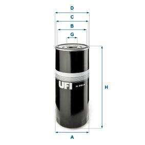 UFI  23.446.00 Ölfilter Ø: 108,0mm, Außendurchmesser 2: 100,0mm, Innendurchmesser 2: 92,0mm, Höhe: 260,5mm