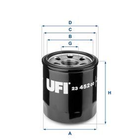 Ölfilter Ø: 68mm, Außendurchmesser 2: 64mm, Innendurchmesser 2: 56mm, Höhe: 76,5mm mit OEM-Nummer 26300-02502