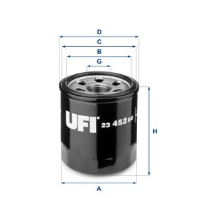Ölfilter Ø: 68mm, Außendurchmesser 2: 64mm, Innendurchmesser 2: 56mm, Höhe: 76,5mm mit OEM-Nummer 26300 2Y500