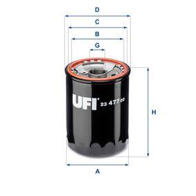 Filtre à huile Ø: 74,0mm, Diamètre extérieur 2: 70,0mm, Diamètre intérieur 2: 60,0mm, Hauteur: 98,0mm avec OEM numéro 156017600971