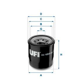 Ölfilter Ø: 66mm, Außendurchmesser 2: 62mm, Innendurchmesser 2: 54mm, Höhe: 71mm mit OEM-Nummer 15208 9F60A
