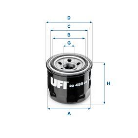 Ölfilter Ø: 76mm, Außendurchmesser 2: 64mm, Innendurchmesser 2: 56mm, Höhe: 66mm mit OEM-Nummer 1230A153