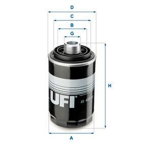 Ölfilter Ø: 76,0mm, Außendurchmesser 2: 60,0mm, Innendurchmesser 2: 49,0mm, Höhe: 143,0mm mit OEM-Nummer 06J 115 561 B
