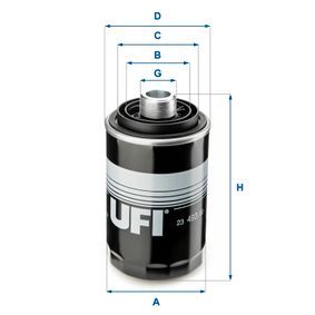 Ölfilter Ø: 76,0mm, Außendurchmesser 2: 60,0mm, Innendurchmesser 2: 49,0mm, Höhe: 143,0mm mit OEM-Nummer 06J115403Q
