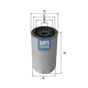UFI  23.544.00 Ölfilter Ø: 93,0mm, Außendurchmesser 2: 71,0mm, Innendurchmesser 2: 61,0mm, Höhe: 111,0mm