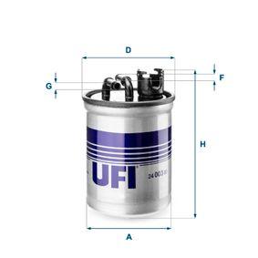 Kraftstofffilter Höhe: 139,0mm mit OEM-Nummer 7M0127401A