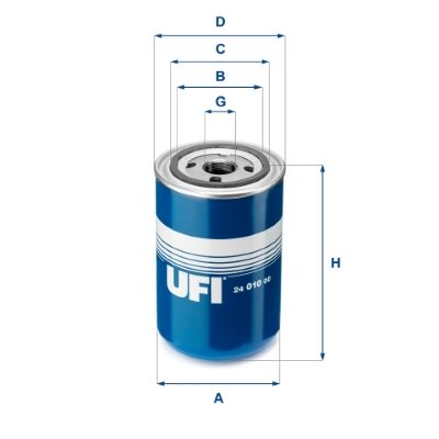 UFI  24.010.00 Fuel filter Height: 144mm