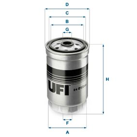 Fuel filter Height: 141mm with OEM Number 319222-B900