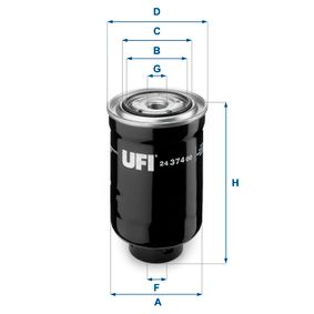 Fuel filter Height: 141,0mm with OEM Number 1 455 829
