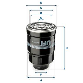 Kraftstofffilter Höhe: 137,5mm mit OEM-Nummer 16403 59E00