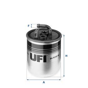 Kraftstofffilter Höhe: 105,0mm mit OEM-Nummer A6110920601