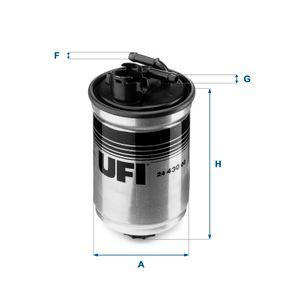Kraftstofffilter Höhe: 145,0mm mit OEM-Nummer XM219A011AA