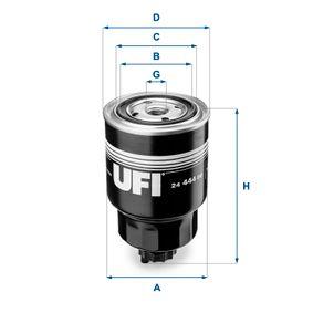 Kraftstofffilter Höhe: 152mm mit OEM-Nummer 16403-7F40B