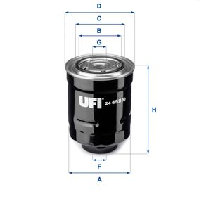 Fuel filter Height: 118mm with OEM Number 23390 26140