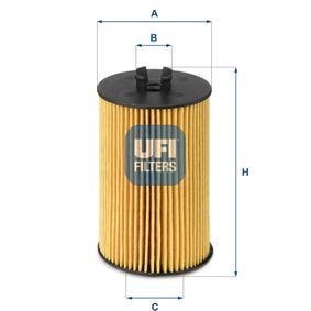 UFI  25.012.00 Ölfilter Ø: 62,0mm, Innendurchmesser 2: 9,8mm, Innendurchmesser 2: 29,0mm, Höhe: 86,5mm