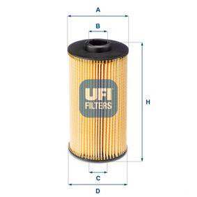 Ölfilter Ø: 83,0mm, Innendurchmesser 2: 25,0mm, Innendurchmesser 2: 39,0mm, Höhe: 160,0mm mit OEM-Nummer 11 42 1 745 390
