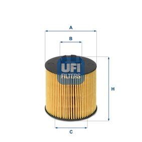 Ölfilter Ø: 65mm, Innendurchmesser 2: 9,5mm, Innendurchmesser 2: 30mm, Höhe: 75mm mit OEM-Nummer 03C115562