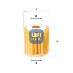 Ölfilter Ø: 65mm, Innendurchmesser 2: 26mm, Innendurchmesser 2: 26mm, Höhe: 75mm mit OEM-Nummer LF01143029A