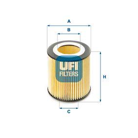 Ölfilter Ø: 74,5mm, Innendurchmesser 2: 40,0mm, Innendurchmesser 2: 40,0mm, Höhe: 79,0mm mit OEM-Nummer 1142 8 683 196